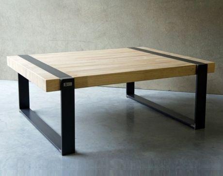 table basse bois metal une ligne