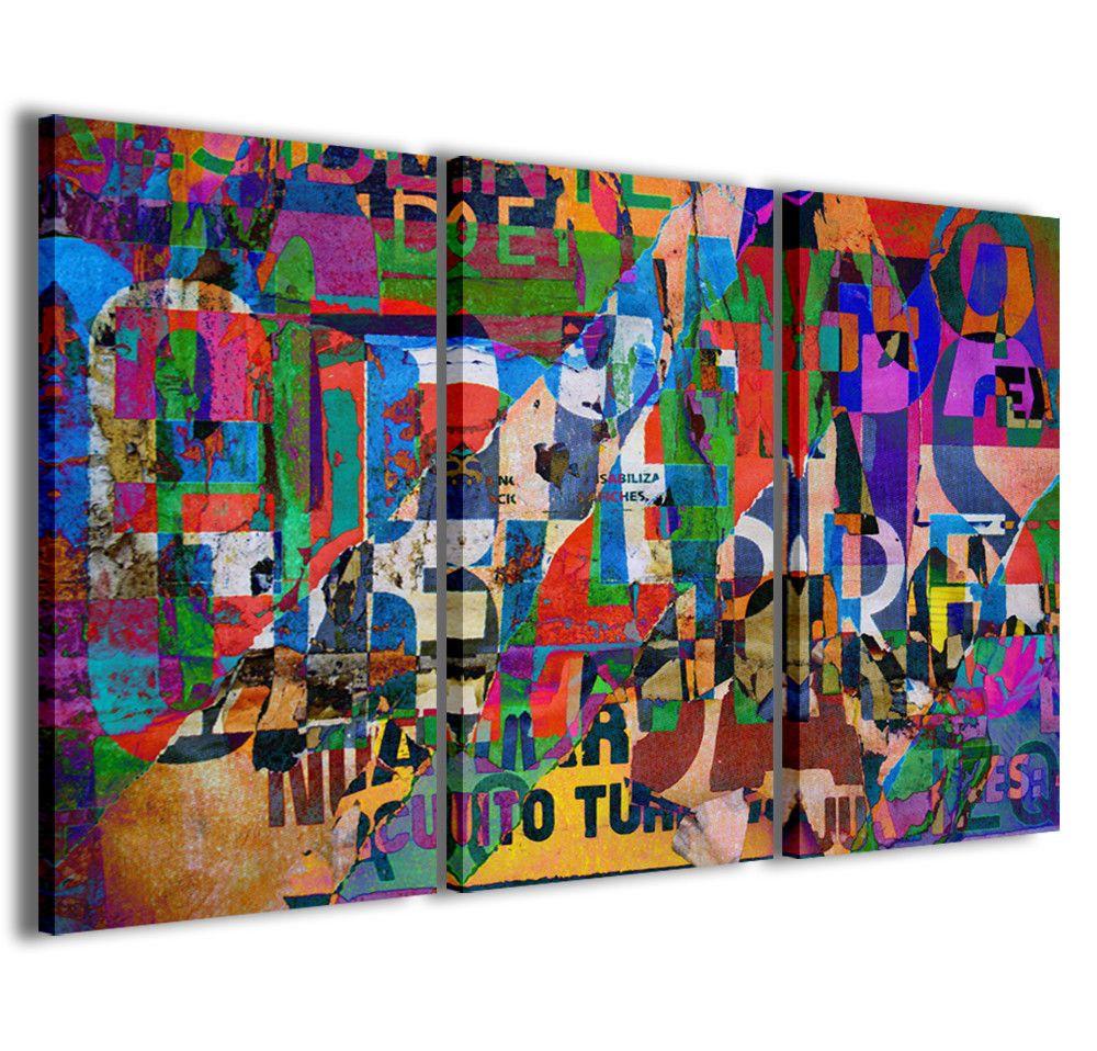 Stampe su tela 3pz.120x90cm Abstract Painting 013 Quadri Moderni ...