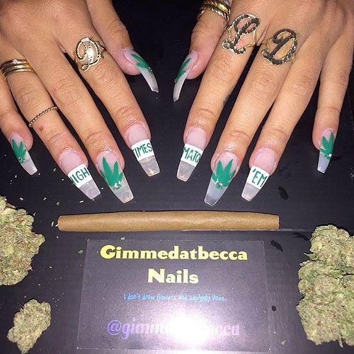 Lil Debbie Nails: Nails, Coffin Nails Long