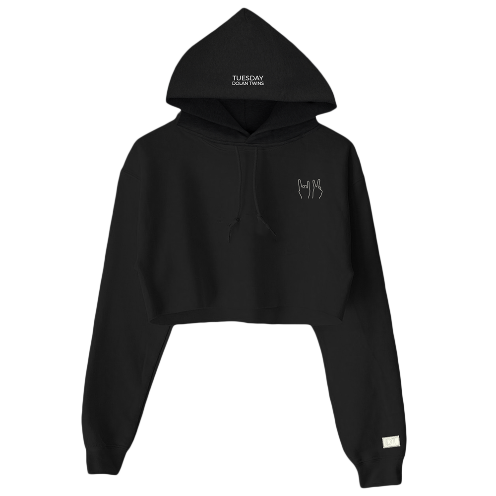 DT Cropped Hoodie (Black) – Dolan Twins Official Store 76055b32192