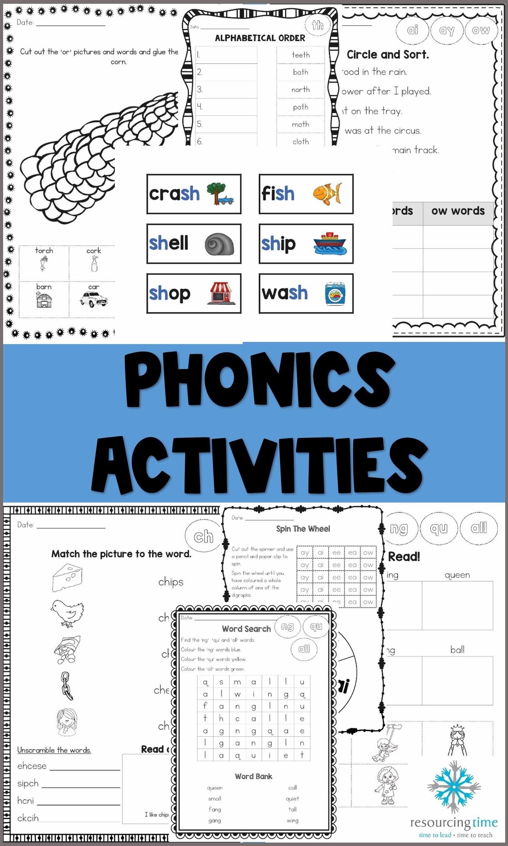 Phonics Worksheet Primary Resources