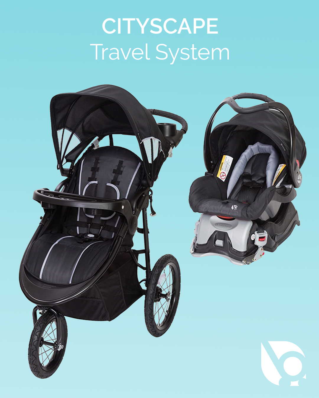 The Cityscape 32 Jogger Travel System in Raven, is ready