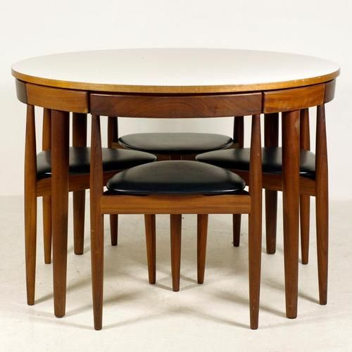 Love This Table Design Where The Chairs Really Fit Under Table