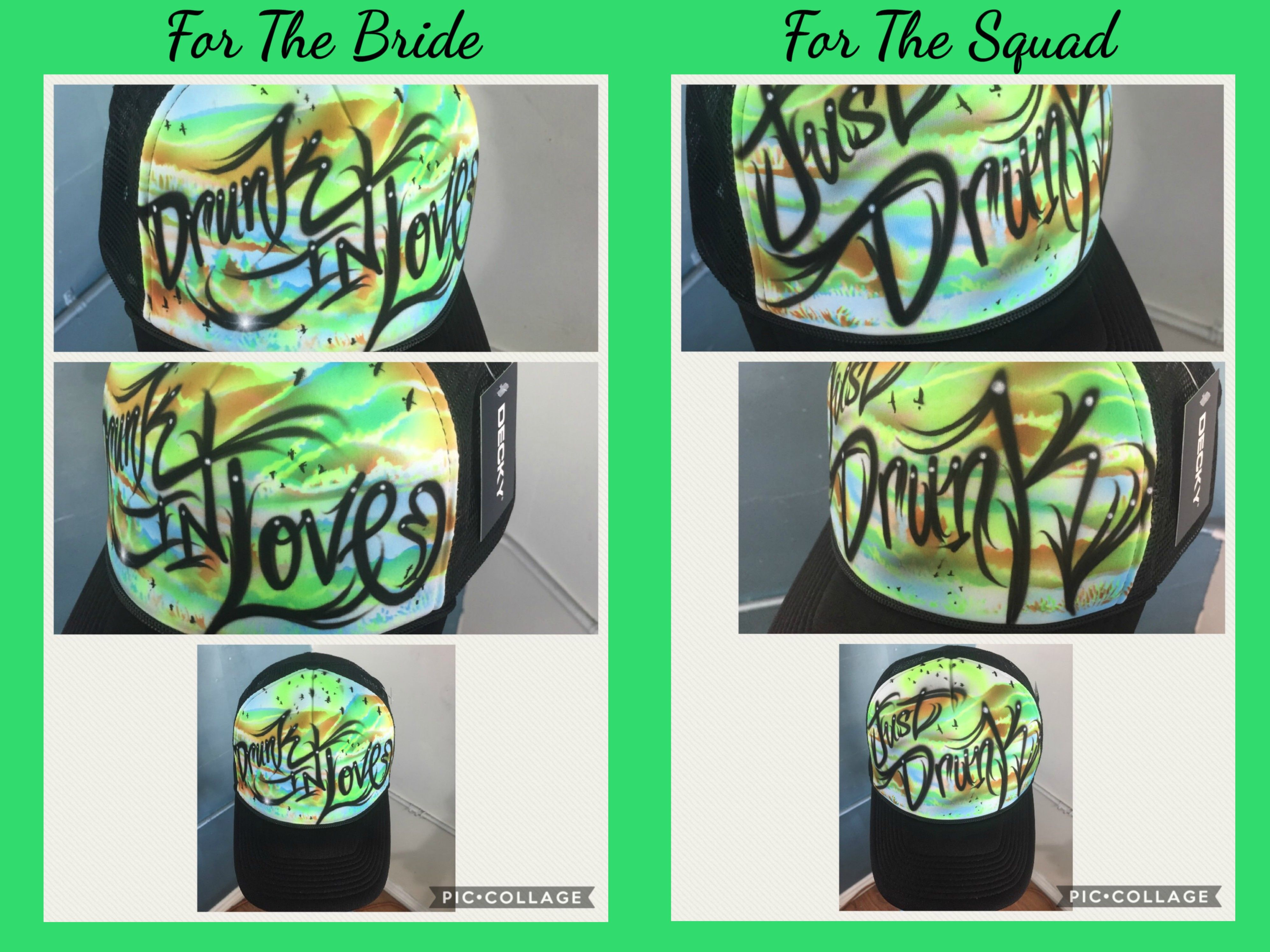 Camping/Wilderness Themed Bachelorette Hats by Mr. Hoodbrush, check us out on Etsy!