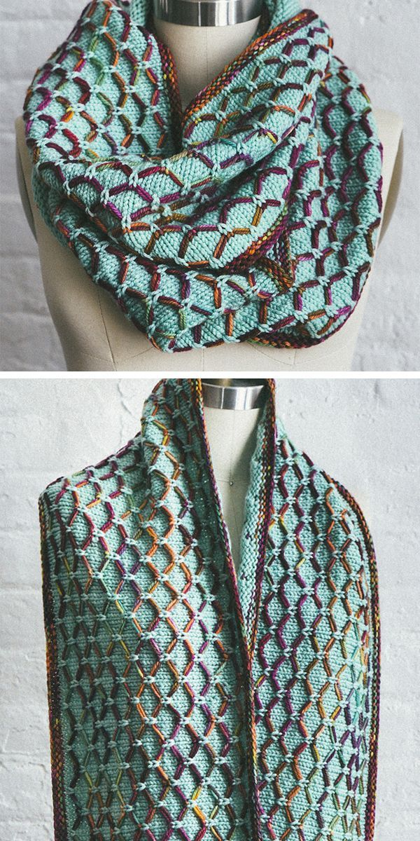 Free Knitting Pattern for 6 Row Repeat Glorious Cincuenta Cowl – Gorgeous infini…