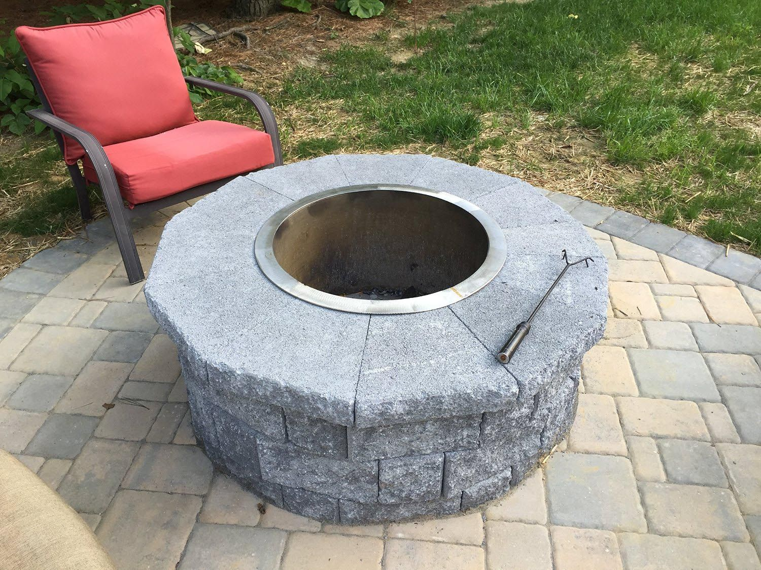 car rim fire pit  fire pit  pinterest  car rims and fire pit  - stainless steel fire pit liner