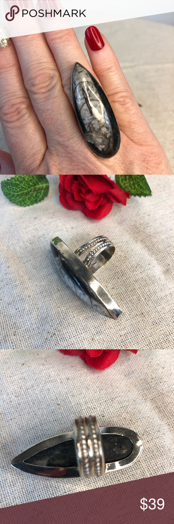 Spotted while shopping on Poshmark Artisan Crafted Orthoceras Sterling Split Ring Jos Closet