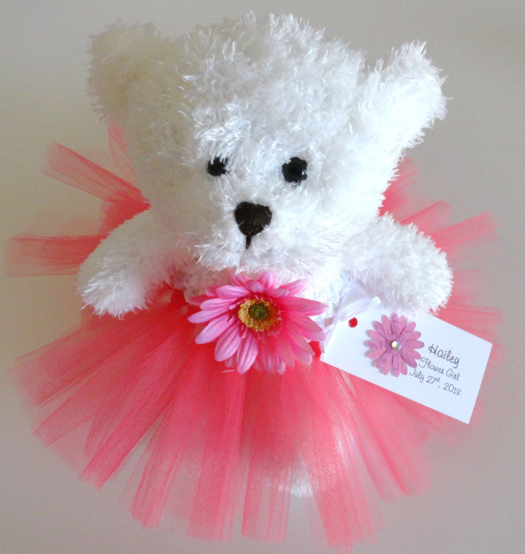 Flower Girl Gift, Personalized Flower Girl Princess Tutu Teddy Bear ...