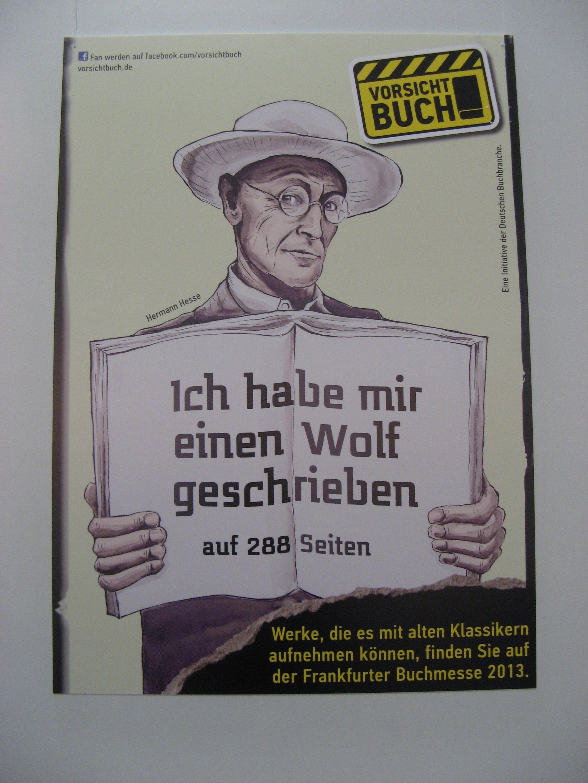 Plakat auf der Frankfurter Buchmesse 2013