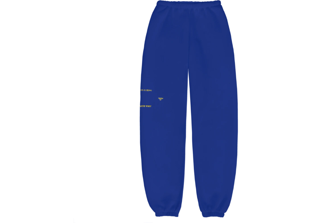 Kanye West Jesus Is King Vinyl I Sweatpants Blue In 2020 Sweatpants Kanye West La Outfits