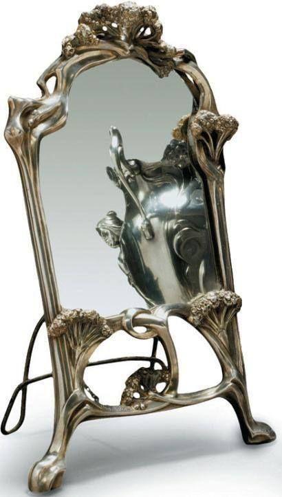 art nouveau miroir ombelles auguste moreau. Black Bedroom Furniture Sets. Home Design Ideas