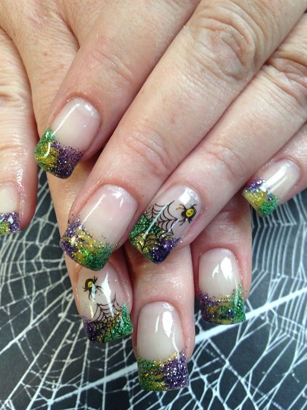 Day 281: Frightening French Nail Art | French nail art, French nails ...