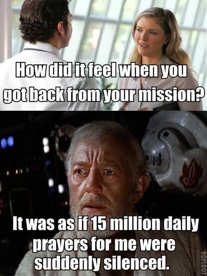 Hilarious Star Wars Mormon Memes That Will Make You Lol Lds S M I L E Funny Mormon Memes Mormon Memes Mormon Jokes