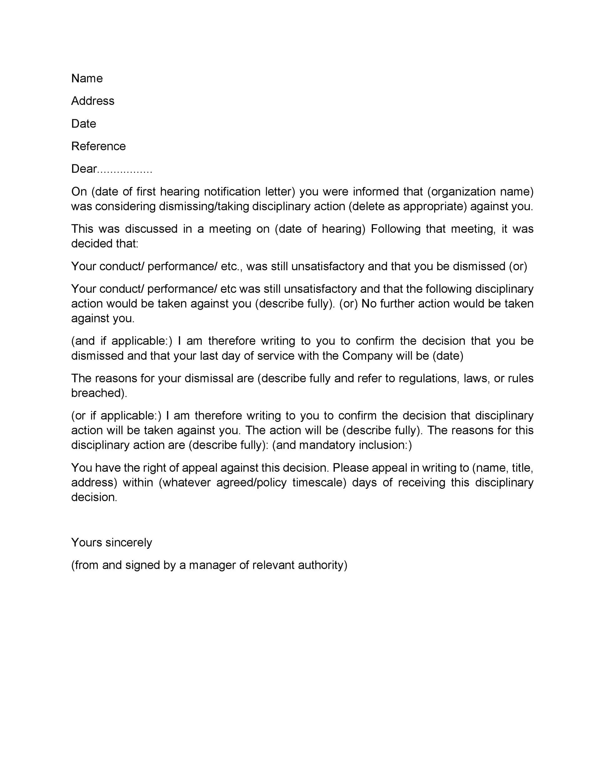 Letters Of Termination Of Employment Letter Template Professional Reference Letter Lettering Termination of employment letter template