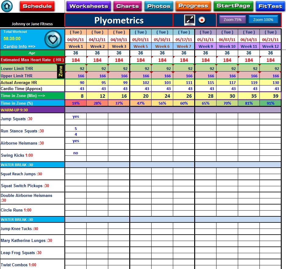 Image Detail For PX Plyometrics Workout Log Sheet  Health