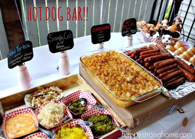 Diy puppy dog birthday party dog birthday birthdays and dog for Food bar ideas for a party