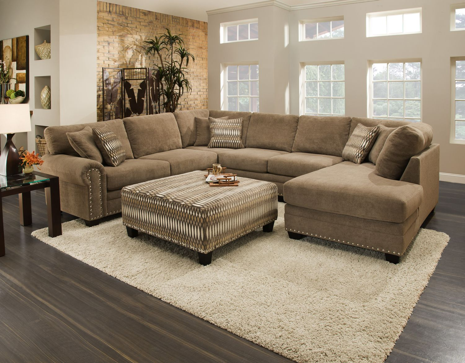 Oates 3 Piece Sectional at HOM Furniture   Furniture Stores in Minneapolis  Minnesota   Midwest. Oates 3 Piece Sectional at HOM Furniture   Furniture Stores in