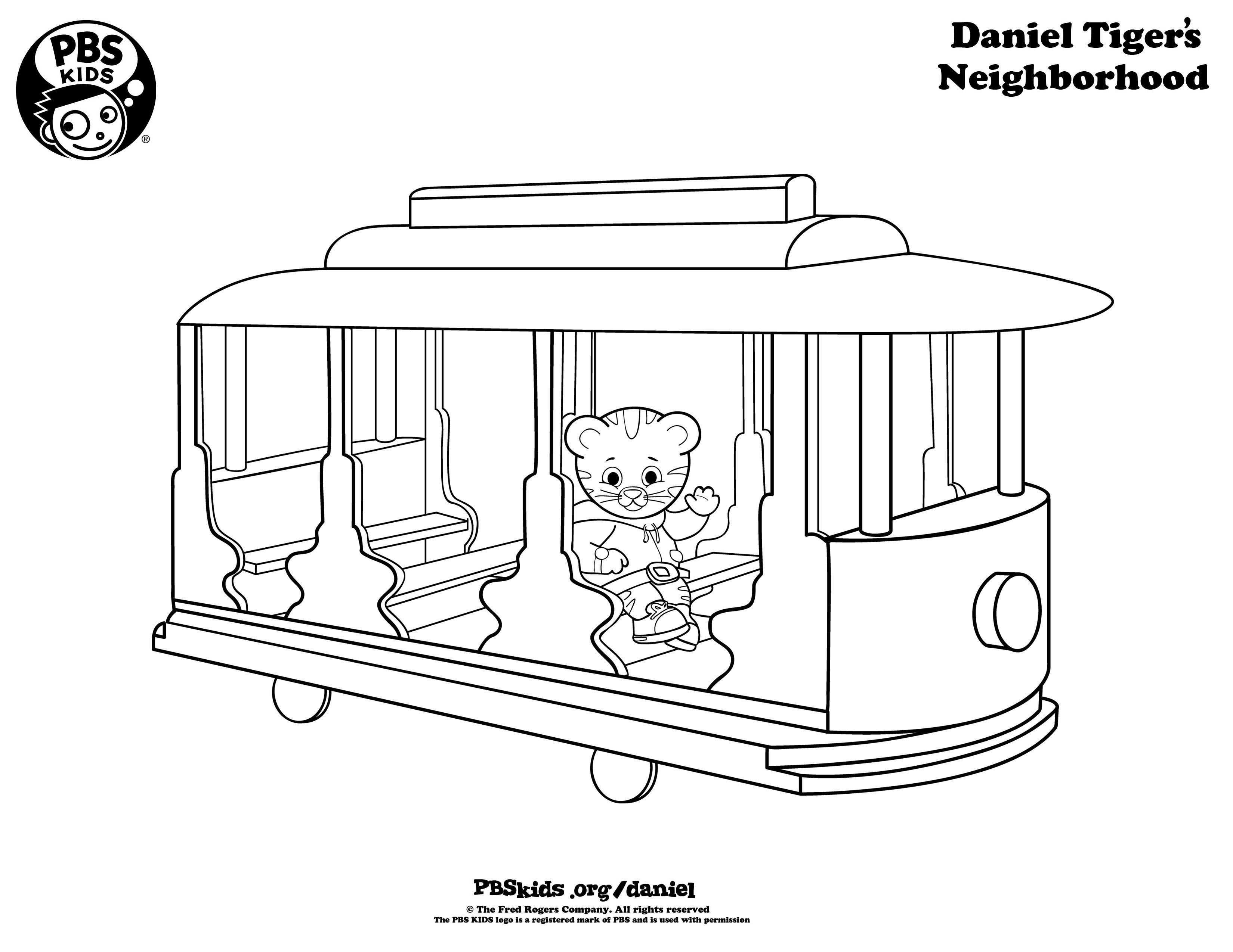 Coloring Daniel Tiger S Neighborhood Pbs Kids 4th Of July