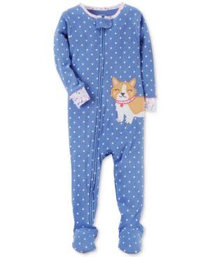 f27ddbd29 Carter s 1-Pc. Dog-Print Dog Footed Cotton Pajamas