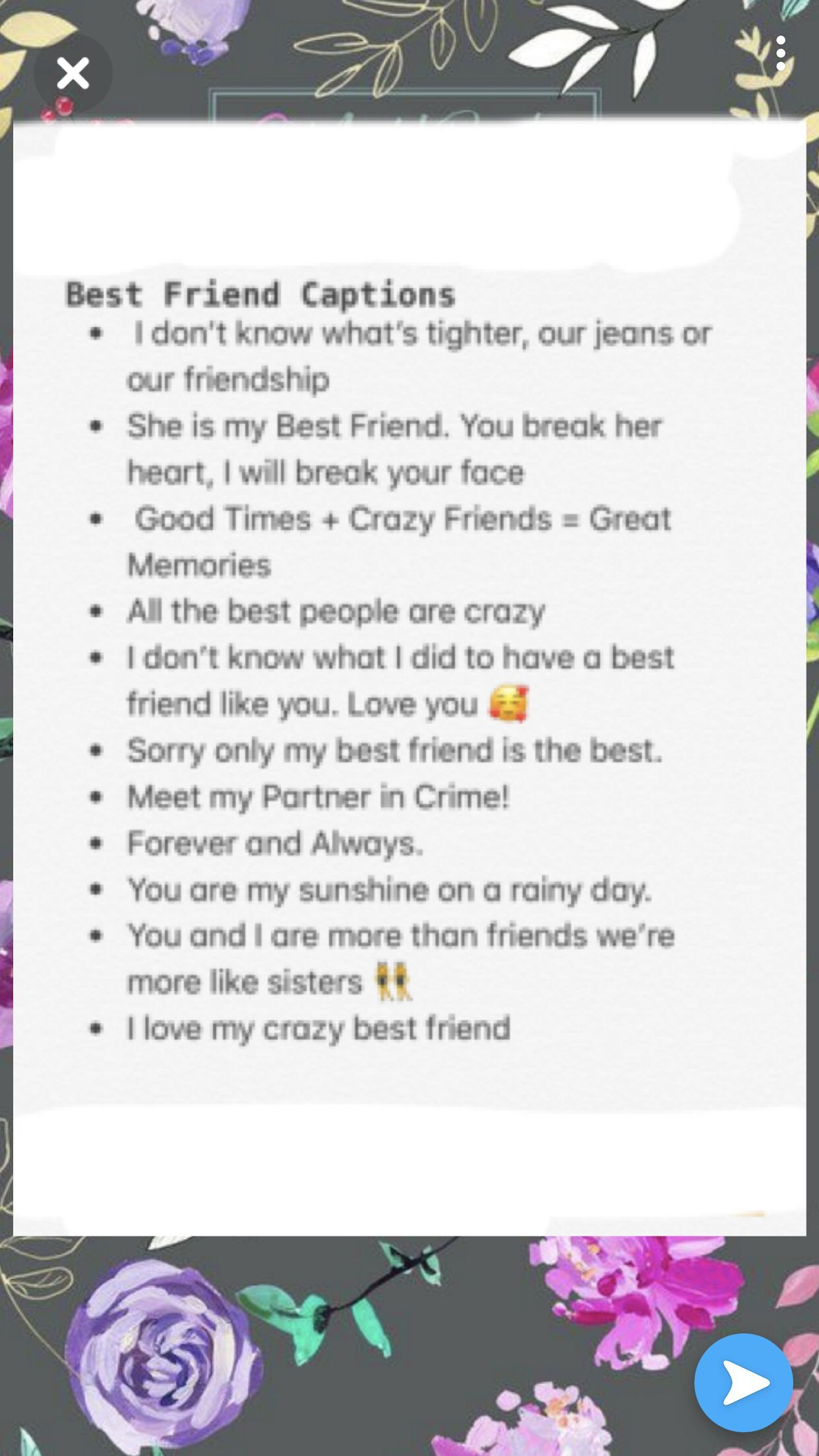 Finest good friend captions in 2020 | Instagram quotes ...