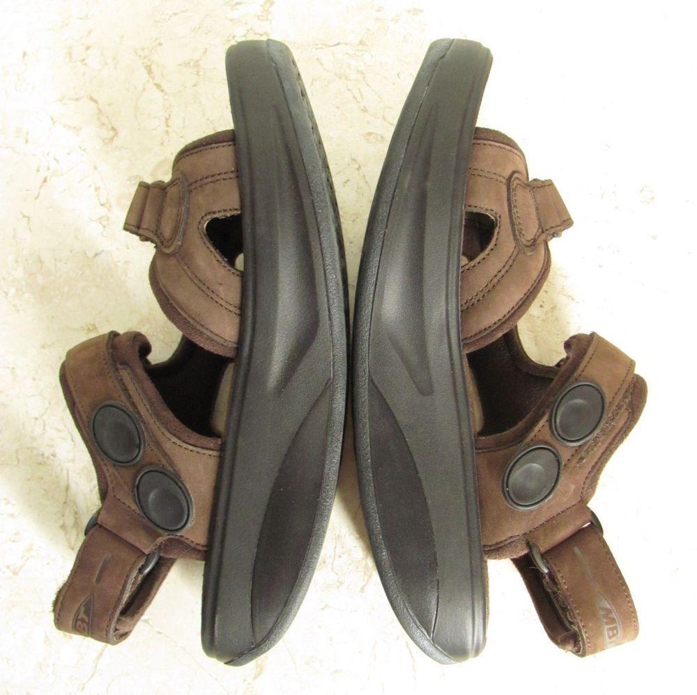 c72b3ad1f2f2 MBT Kisumu Women 8.5 Chocolate Leather Toning Sandals Rocker Swiss  Engineered  MBT  FootbedSandals