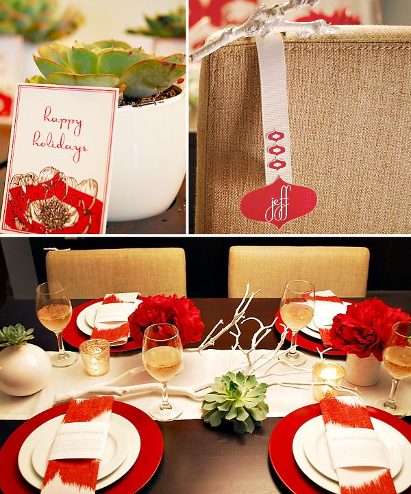cute place cards idea.  Also... wouldn't a painted twig (small like this) be an interesting idea for a man's boutonnière???