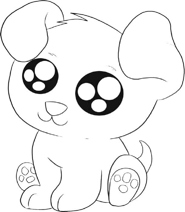 Cute Puppy Coloring Pages Printable  Cute Puppies Coloring Pages