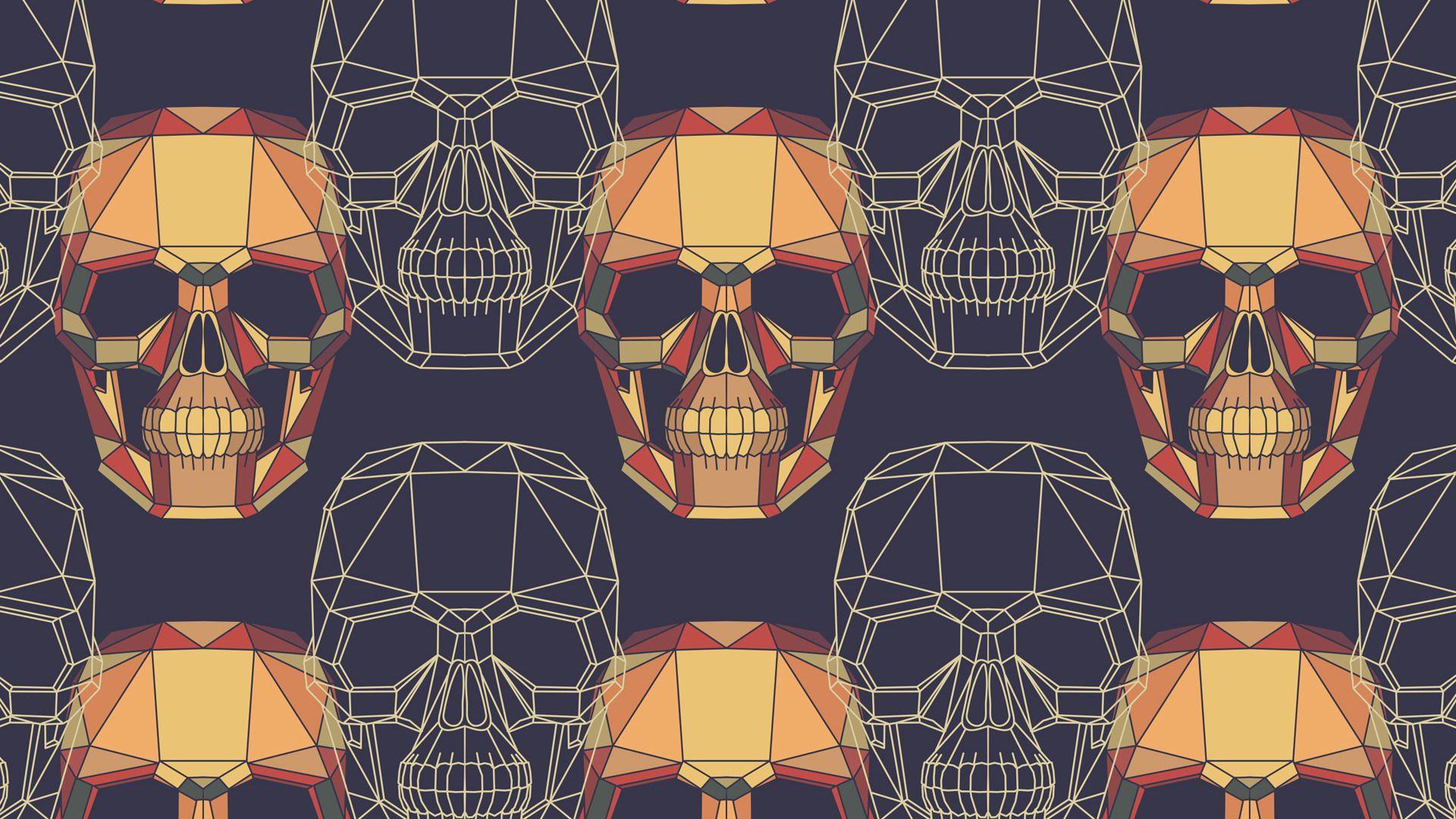 Skull Pattern Skull Wallpaper Geometric Skull Wallpaper Pattern Wallpaper