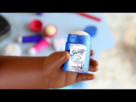 Doll Deodorant DIY | How to Make American Girl Doll Deodorant Stick - YouTube #americangirldollcrafts