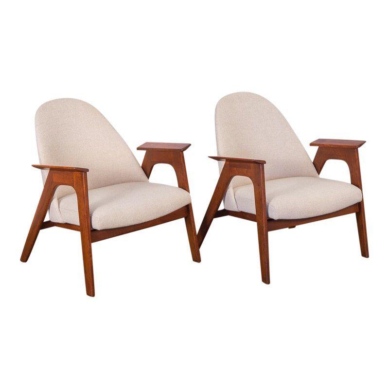 Spectacular American Walnut Armchairs A Pair Armchair Mid