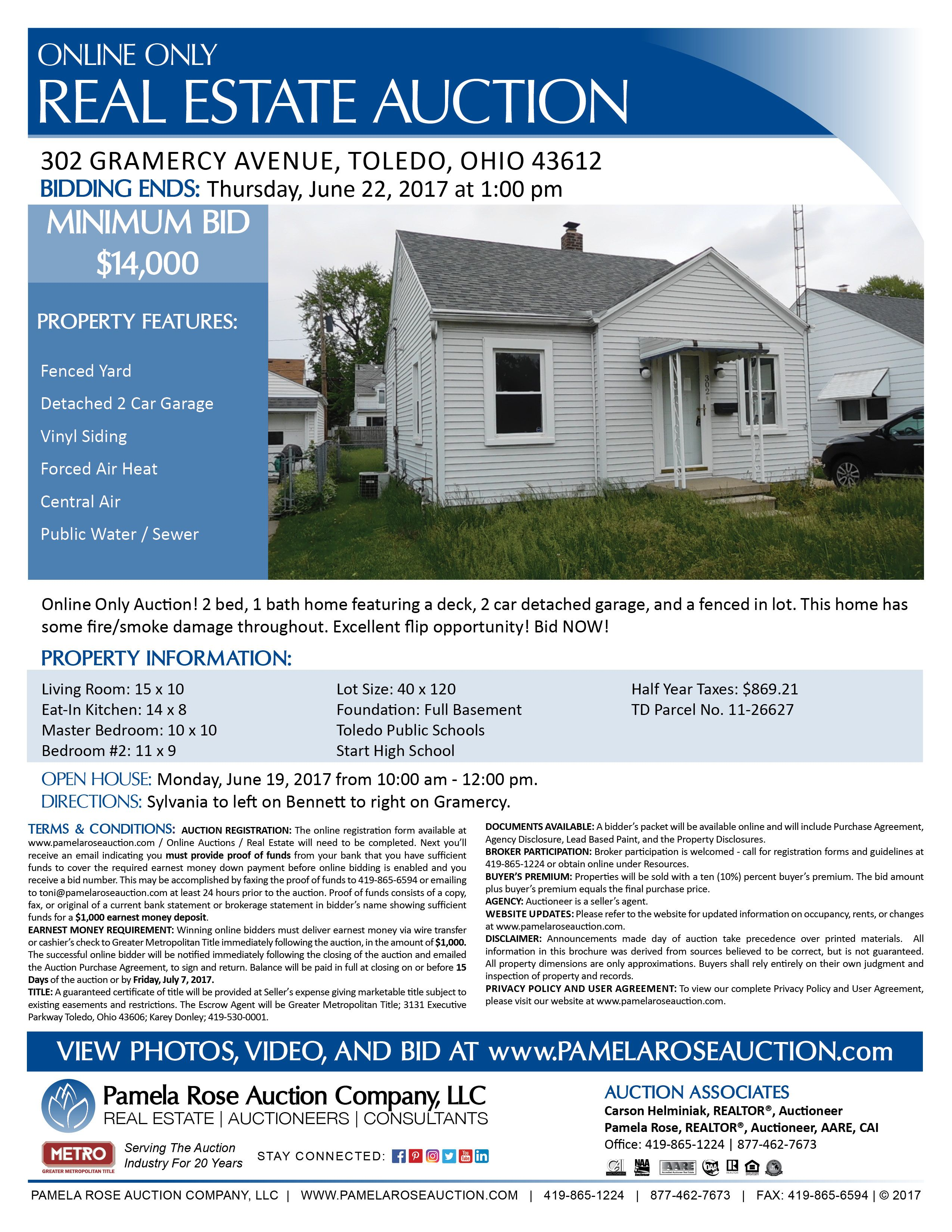 Investment Opportunity At Auction Being Sold Online Only At 302