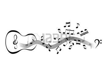 Dessin Instrument De Musique Notes Sur Des Portees Dessin