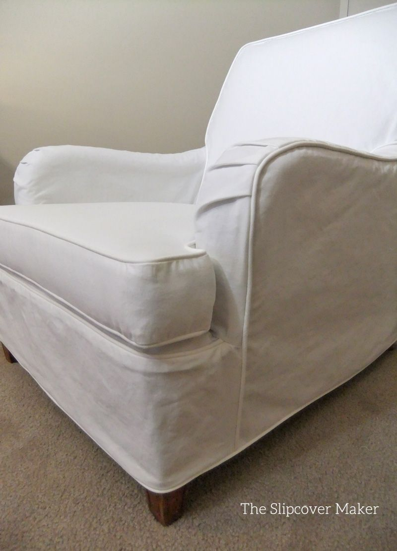Love The Curves Of An English Rolled Arm Chair. White Slipcover In Carr Go