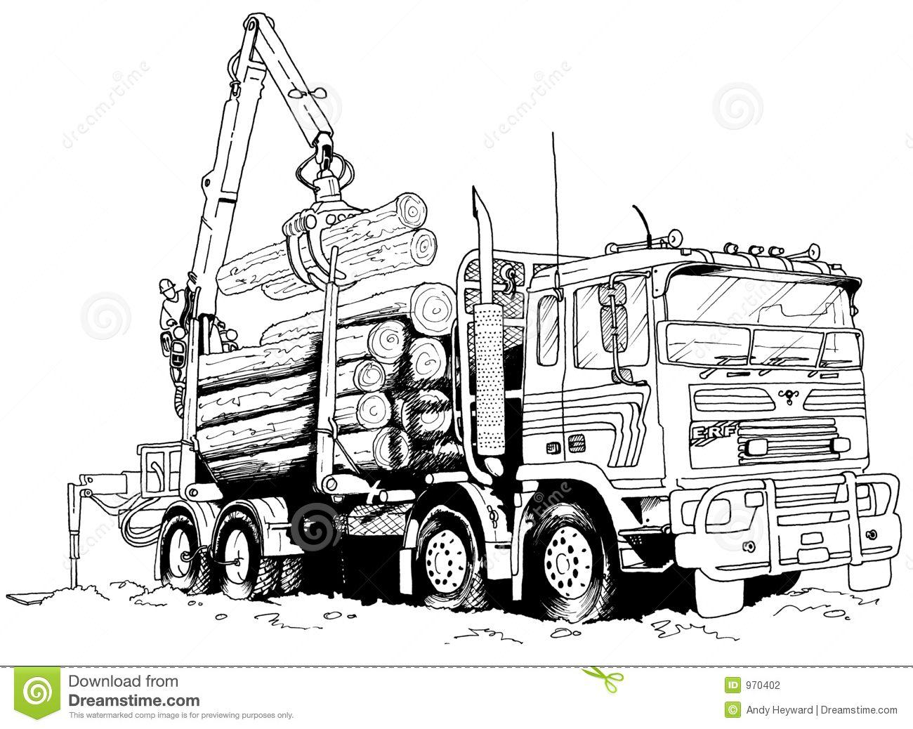 Restful Drawings Logging Truck