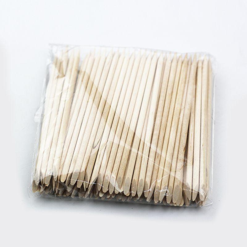 1061 10pcs Nail Art Orange Wood Stick Cuticle Pusher Remover For