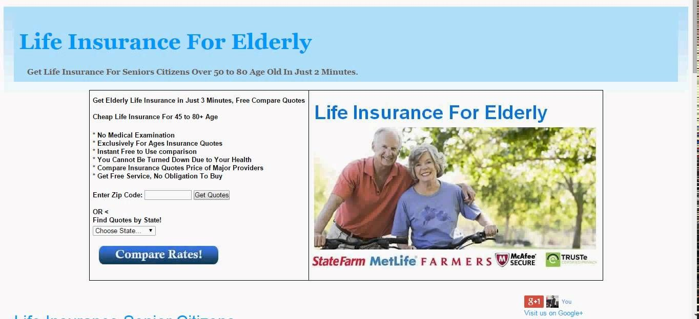 Life Insurance Senior Citizens Life Insurance For Seniors