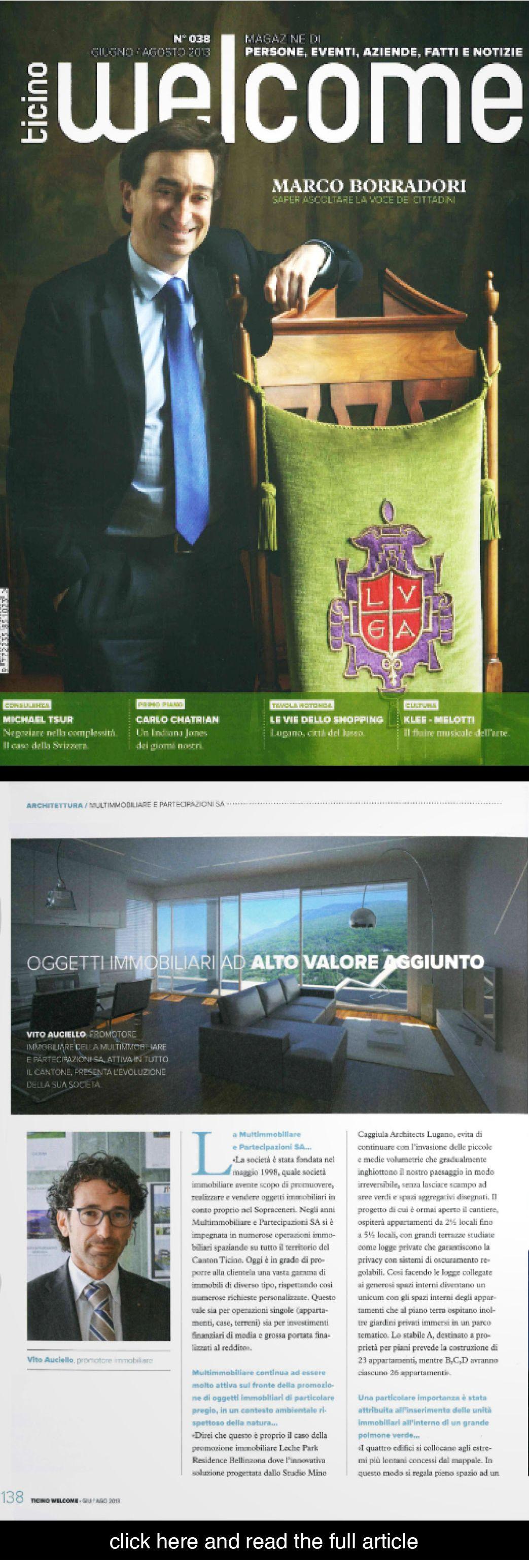 Mino Caggiula Architects on Ticino 1st issue