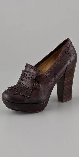 Frye stacked loafers. Droool.