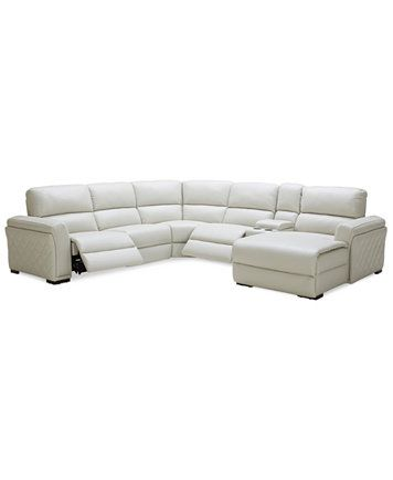 Enjoyable Image 2 Of Closeout Jessi 6 Pc Leather Sectional Sofa With Inzonedesignstudio Interior Chair Design Inzonedesignstudiocom