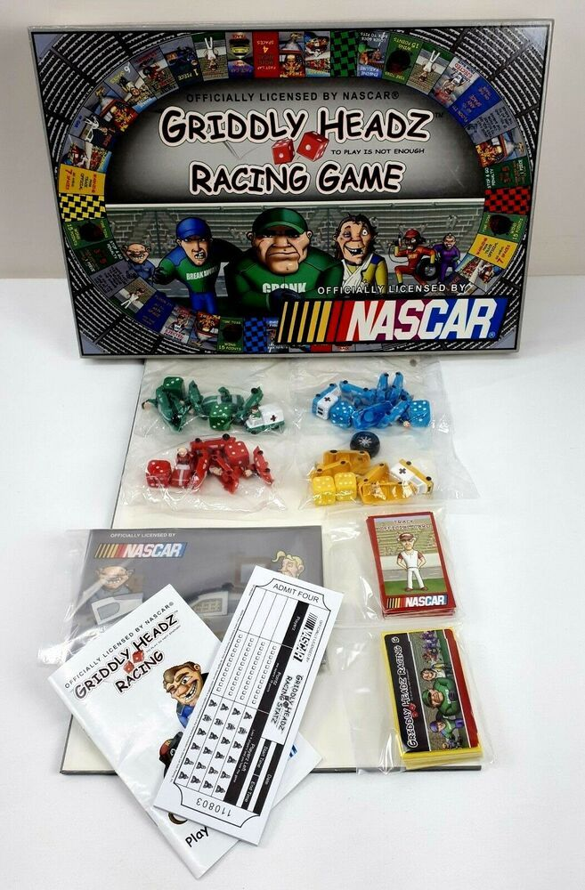 Griddly Headz Nascar Racing Game For Parts Only