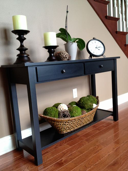 The Hansen Family Adding Green Accents Hall Table Decor