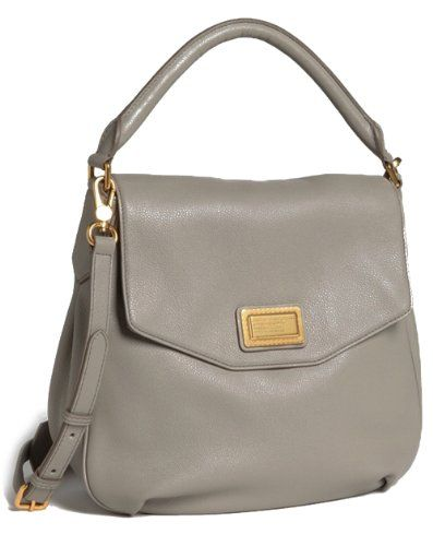 d7b23273af5 MARC BY MARC JACOBS Leather Flap Hobo Bag, Gravel Grey | Like a Boss ...