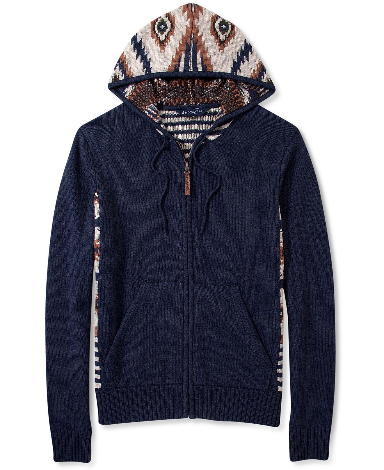 Rocawear Hoodie Tribal Print Sweater Zip - Hoodies