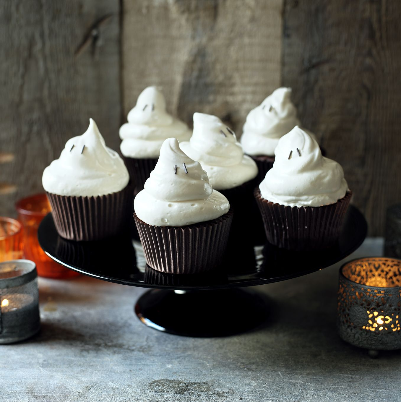 Halloween ghost cupcakes Recipe Ghost cupcakes, Halloween ghosts - Ghost Halloween Decorations