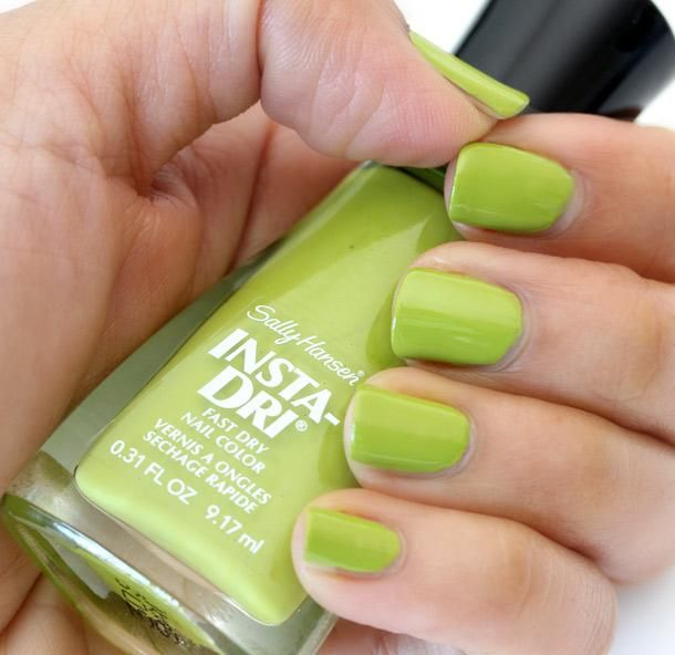 Sally Hansen Insta-Dri Fast Dry Nail Color in Lickety-Split Lime ($4 ...