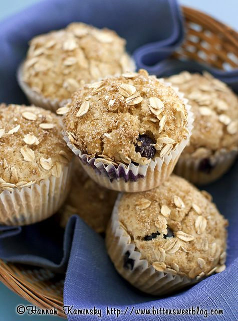 Blueberry Muffins by Bitter-Sweet-, via Flickr