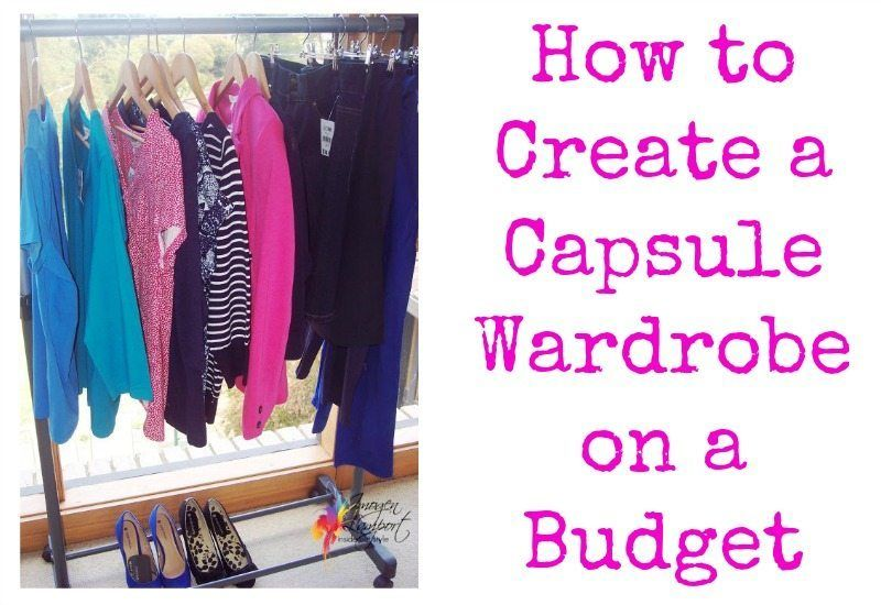 How to Create a Capsule Wardrobe on a Budget - how to make 12 garments create 72 outfits