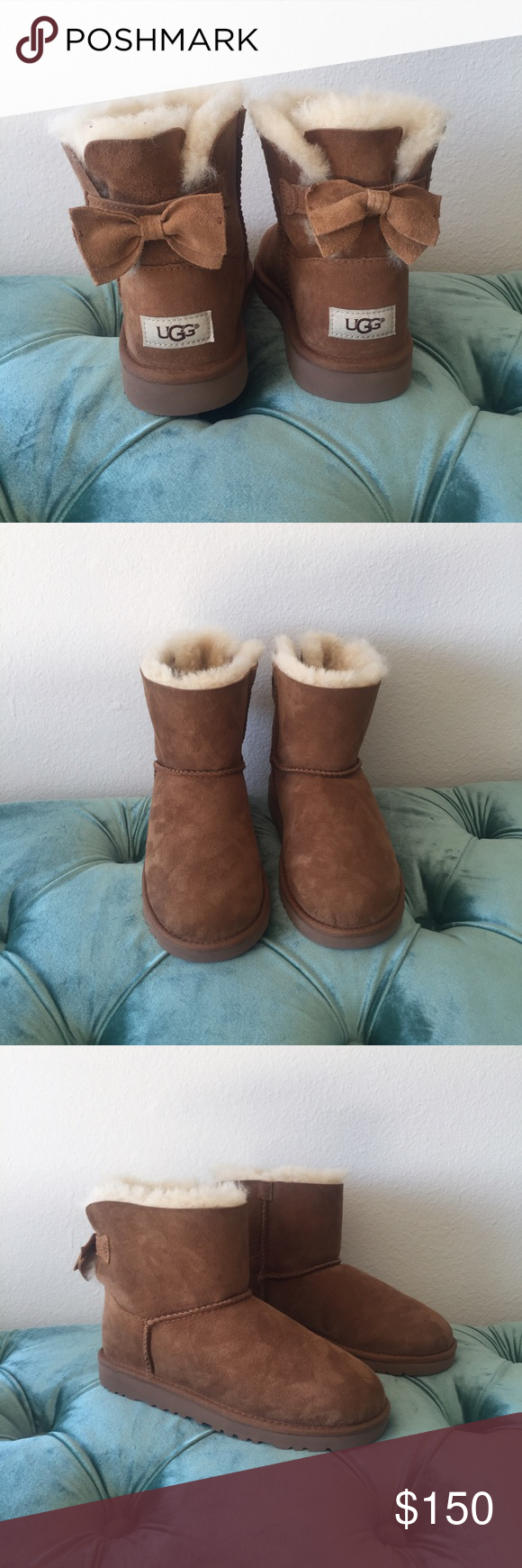7aec10ed253 Classic Ugg boots with bow accents Classic Ugg boots with bow ...