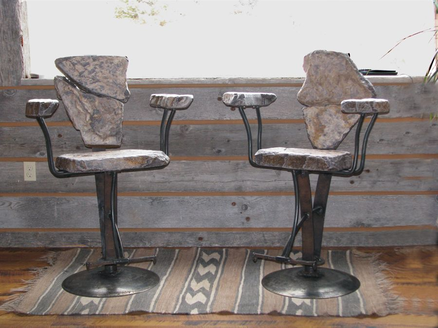 swivel bar stools with arms by stone2furniture home ranch