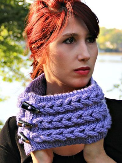 Crochet Knit Look Braid Stitch Cowl Scarf Crochet